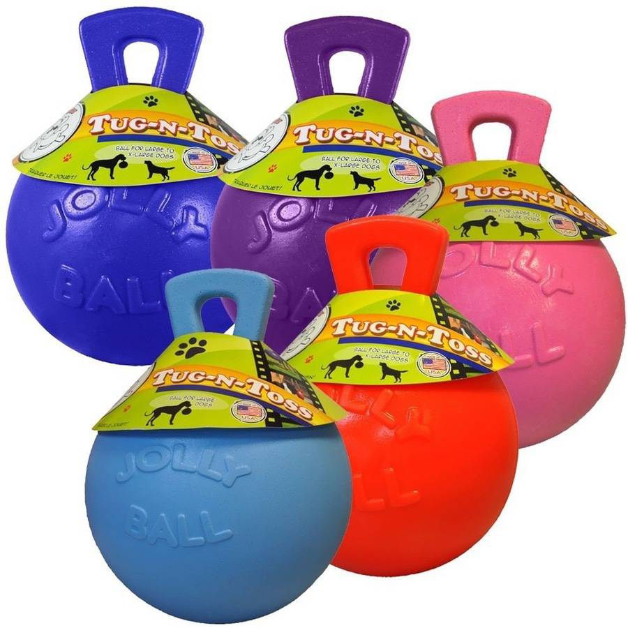 Jolly Pets Tug-n-Toss Jolly Ball, 6 in., Assorted