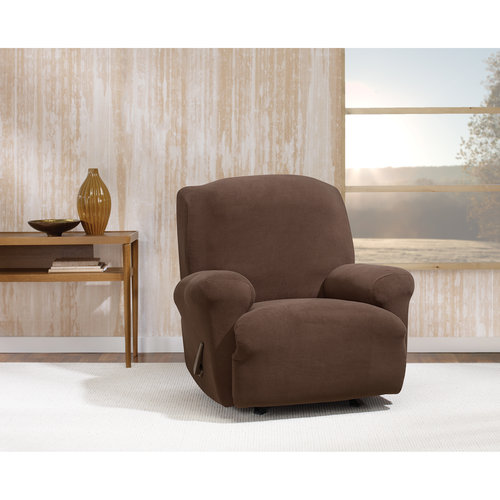 Stretch Morgan 1-Piece Recliner Furniture Cover, Chocolate