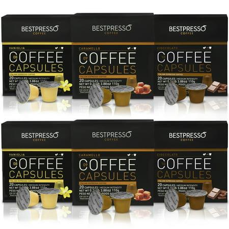 bestpresso premium nespresso coffee pods flavor pack 120. Black Bedroom Furniture Sets. Home Design Ideas