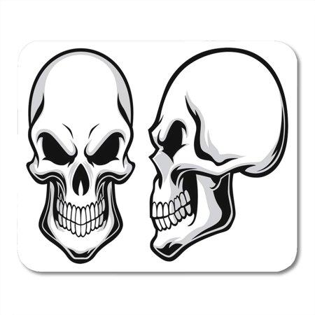 LADDKE Skeleton Black Side Cartoon Skulls View Halloween Head Human Mousepad Mouse Pad Mouse Mat 9x10 inch - Halloween Skulls Cartoon