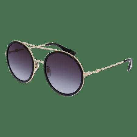 Gucci GG0061S 001 Black Round Pilot Sunglasses