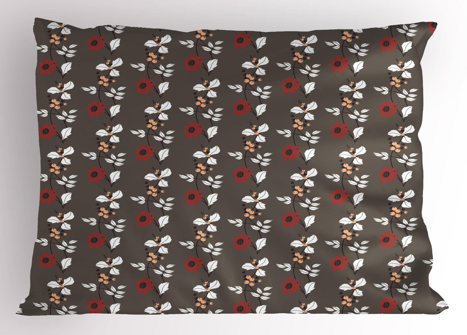 Floral Pillow Sham Spring Nature Garden Theme Art Pattern