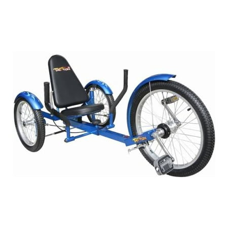Blue 3 Three Wheeler Low Rider Riding Bicycle Bike Trike Tricycle for Adult
