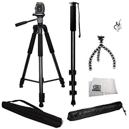 3 Piece Best Value Tripod Package for the Nikon D3000, D3100, D3200, D3300, D5000, D5100, D5200, D5300, D5500, D7000, D7100, D7200, D40, D50, D60, D70, D80, D90, D600, D610, D700, D750, D800, D800E,