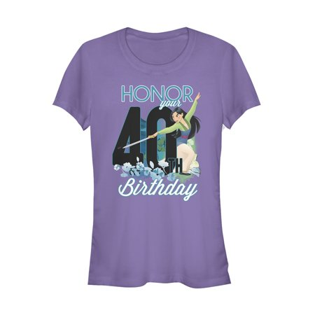 Mulan Juniors' Honor Your 40th Birthday T-Shirt (Mulan Please Bring Honor To Us All)