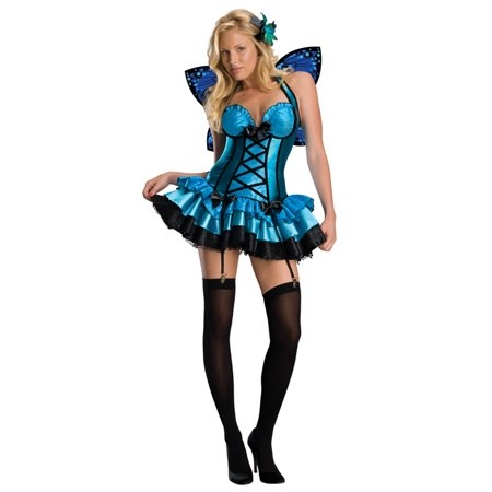 Fantasy Fairy Blue Sexy Adult Women's Costume