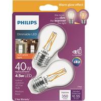 Philips Warm Glow A15 Medium Dimmable LED Light Bulb