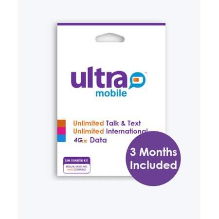 Ultra Mobile SIM Card (Micro/Mini/Nano) with 3 Month $19 Plan included ( Orders with more than 4 SIM Cards will be canceled