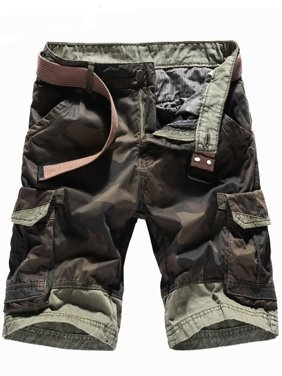 cc07403a8f Product Image Men's Camouflage Shorts Multi Pocket Straight Fit Cargo  Shorts Loose Fit Cotton Twill Cargo Shorts Khaki