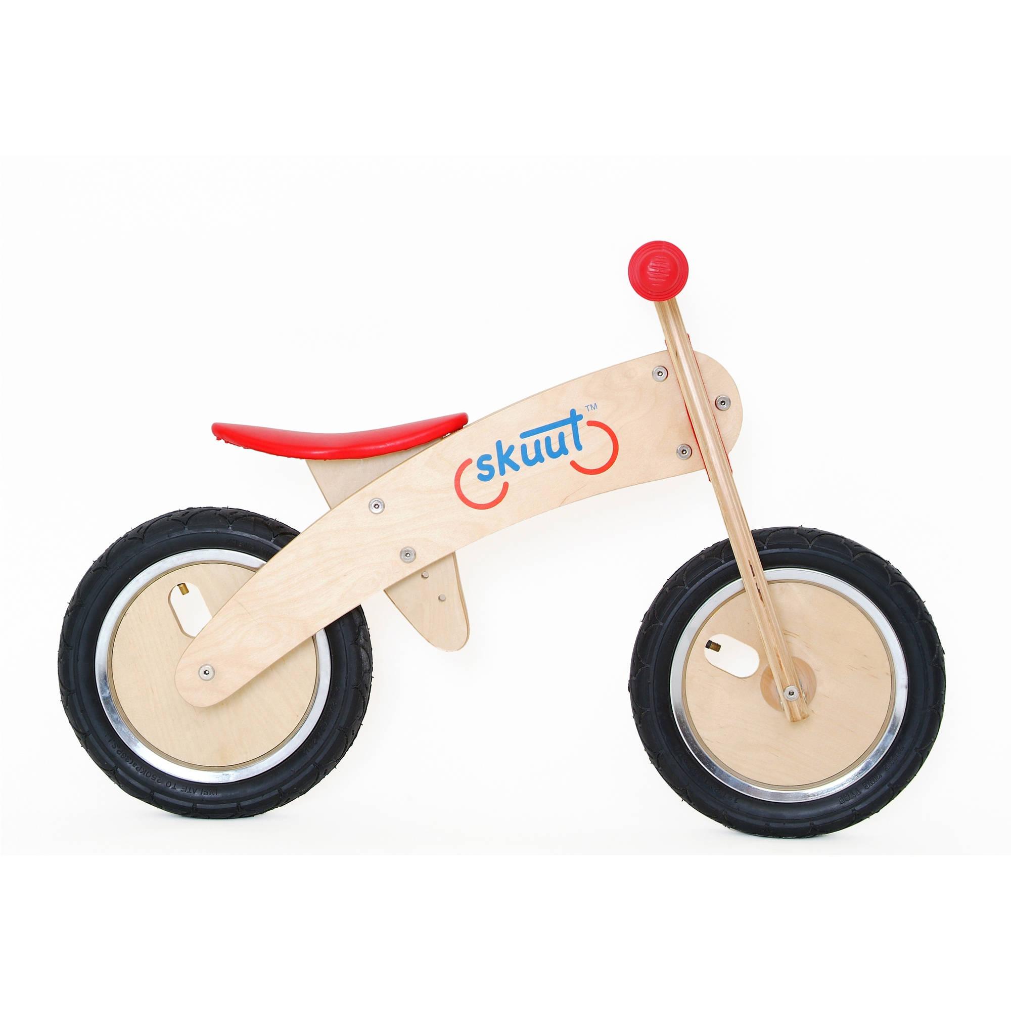 Diggin Active Red Skuut Wooden Balance Bike