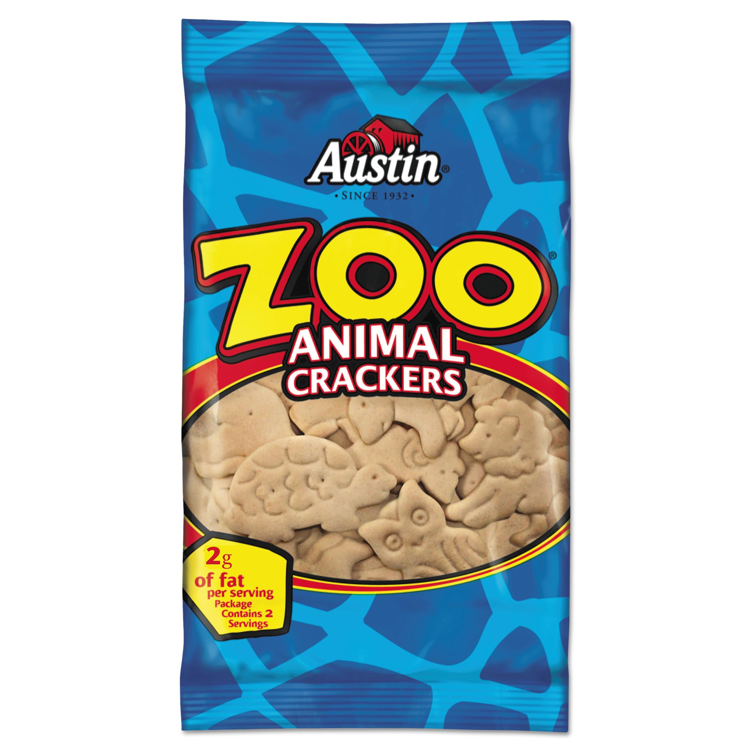 Austin Zoo Animal Crackers, 2 oz, (Pack of 80)