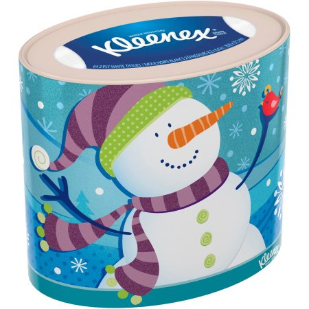 Kleenex Holiday Facial Tissue, Oval, 2 Boxes
