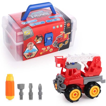 Multi-Model Disassembly Dump Truck, Excavator, Digger, Clamp Car, Ladder Truck & Crane- BPA Free, Truck Play Toys Gift for 3-12 Years Toddlers Kids (8 Ton Truck With Crane For Sale)