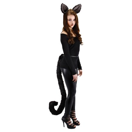 Deluxe Kitty Cat Ears Adult Costume Accessory - Kitty Cat Face Halloween