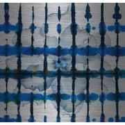 Parvez Taj White Flower Squared Art Print on Brushed Aluminum