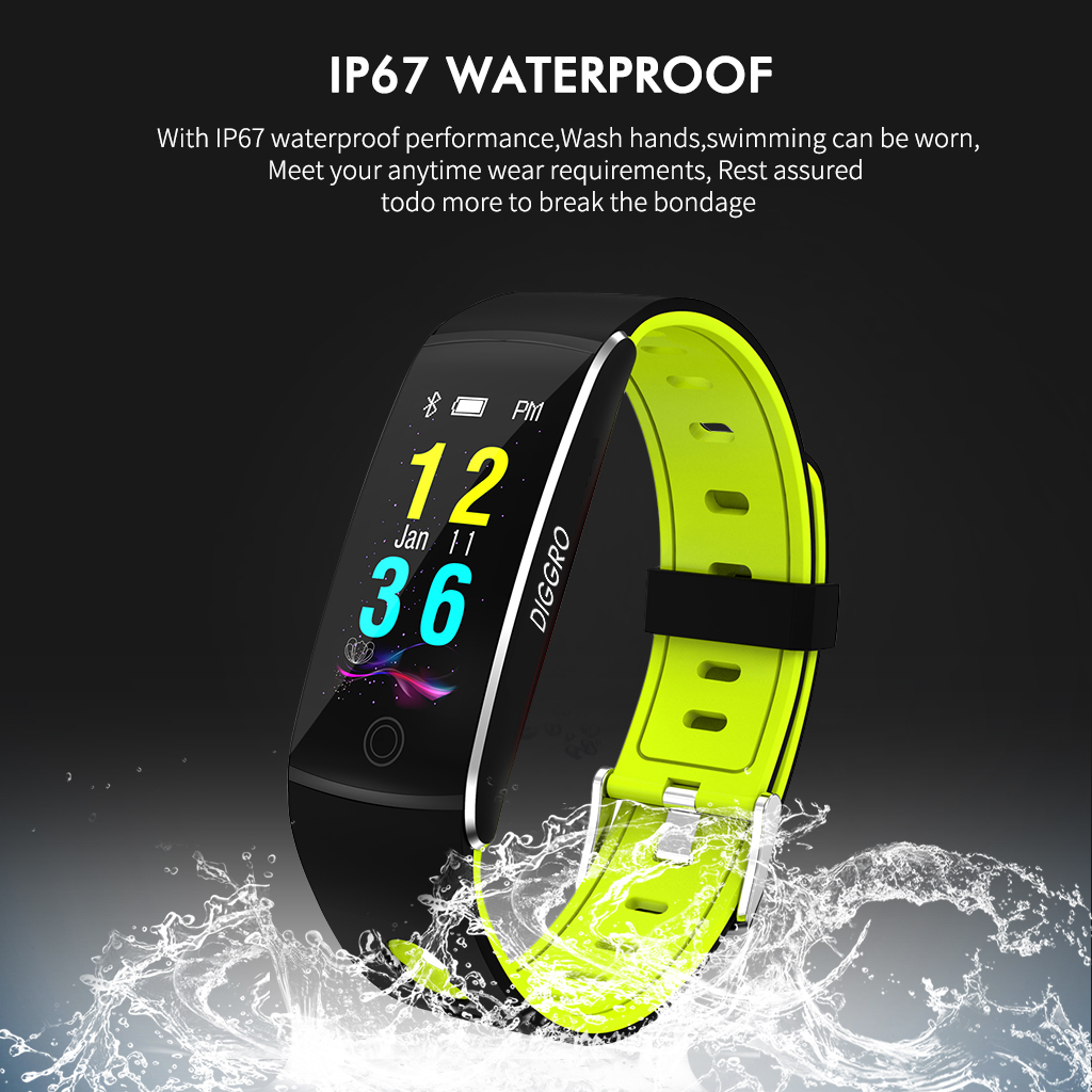 Diggro F10 Fitness Tracker, Activity Tracker Watch with Heart Rate IP67 Waterproof Bluetooth 4.0 Sports Pedometer Sleep Monitor Call/SMS Reminder Sedentary Reminder for Kids Women Men