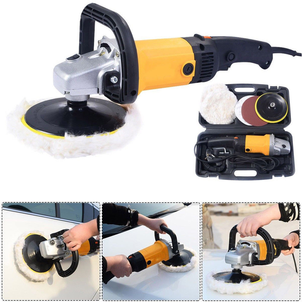 """Zimtown 7"""" 1600W Electric 6 Variable Speed Car Polisher Buffer Waxer Sander Detail Boat"""