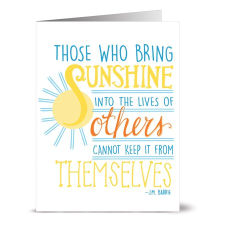 24 Note Cards - Bring Sunshine - Blank Cards - Yellow Envelopes (Sunshine Note)