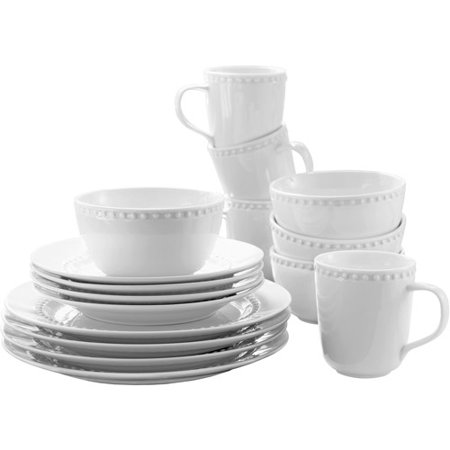 Canopy 16 Pc Beaded Porcelain Set - Walmart.com