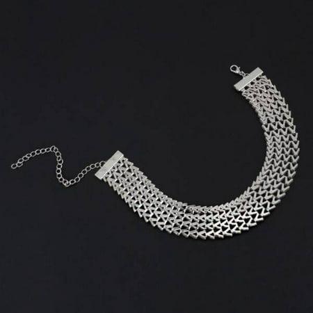 ON SALE - Chain Link Chunky Metal Choker Silver