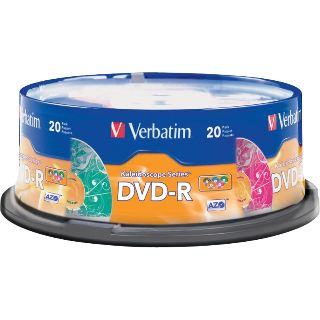 Verbatim Kaleidoscope 16x DVD Recordable Media