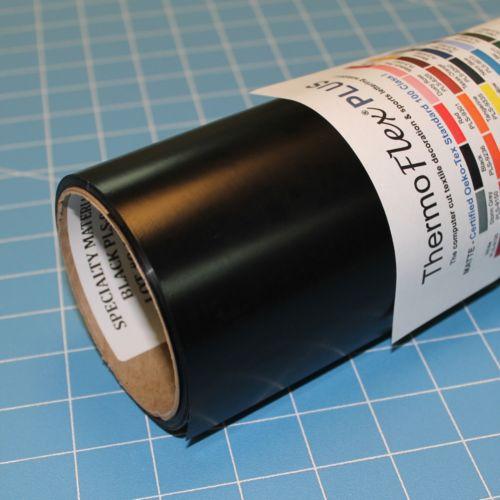 ThermoFlex Plus 15' x 5' Roll Black Heat Transfer Vinyl