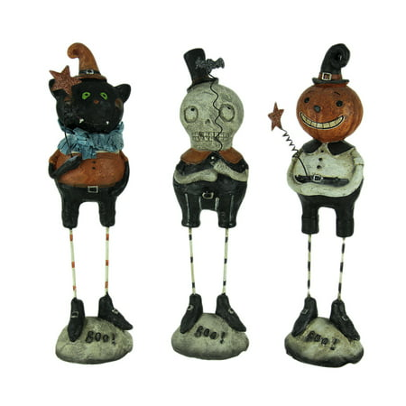 Set of 3 Pumpkin Peeps Vintage Look Halloween Figurines