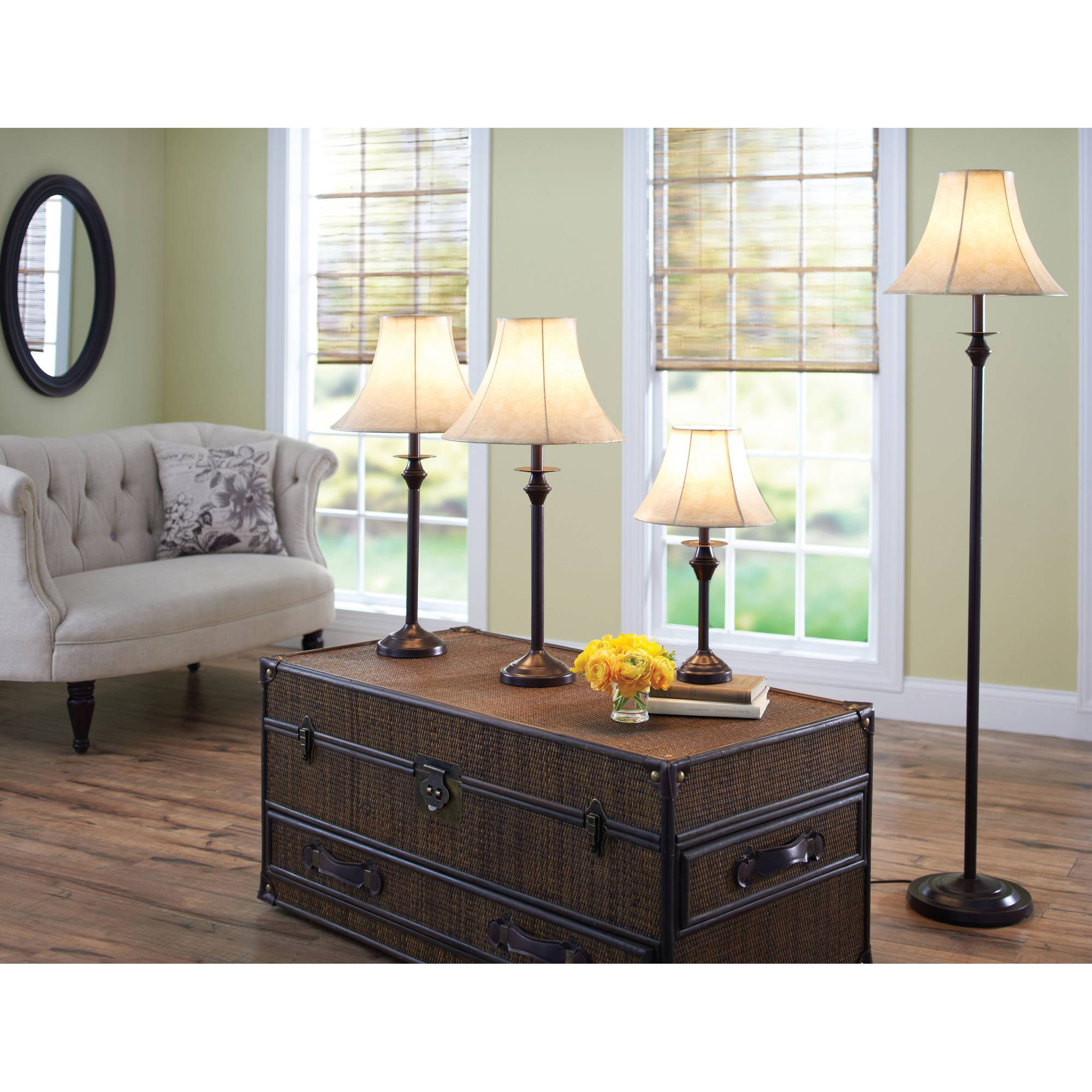 Better Homes and Gardens 4 Piece Lamp Set  Dark Brown Finish   Walmart com. Better Homes and Gardens 4 Piece Lamp Set  Dark Brown Finish