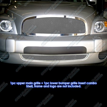 Compatible With 2006-2011 Chevy HHR Stainless Steel Mesh Grille Grill Combo insert