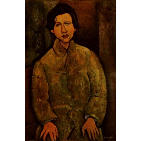 Chaime Soutine 1918 Stretched Canvas - Amedeo Modigliani (18 x (Sola 24 Inch)