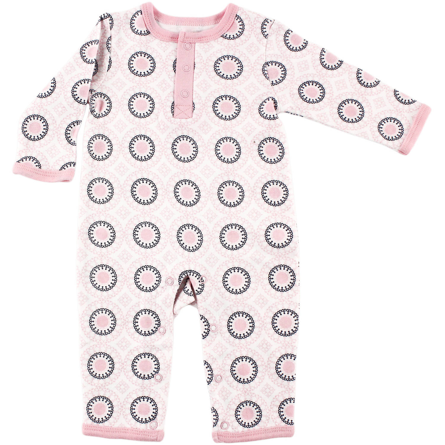 Yoga Sprout Newborn Baby Girls Union Suit - Ornamental