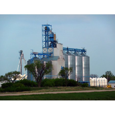 Canvas Print Building Silo Farming Garner Bulk Grain Elevator Stretched Canvas 10 x 14