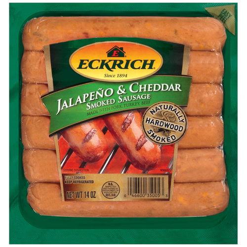 Eckrich Jalapeno & Cheddar Smoked Sausage Links, 6ct
