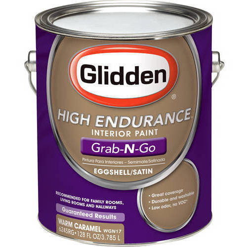 Glidden High Endurance Grab-N-Go, Interior Paint, Eggshell Finish, Warm Caramel, 1 Gallon