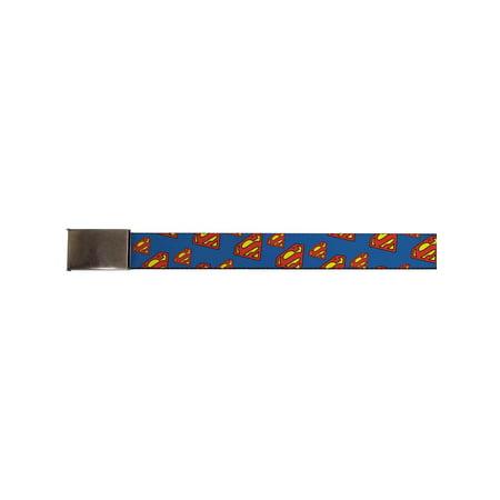 superman dc comics superhero classic logo repeating blue web belt