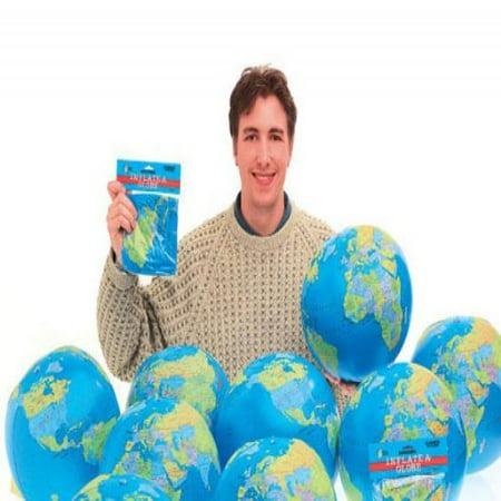Castle Toys Learning   Development  Inflatable World Globe  Blue