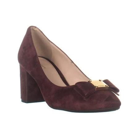 Cole Haan Oxford Heels - Womens Cole Haan Tali Bow Block Heel Pumps, Cordovan