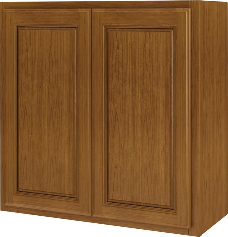 Randolph W2430RA-B Double Door Kitchen Cabinet, 24 in W X 12 in D X 30 in H, Amber