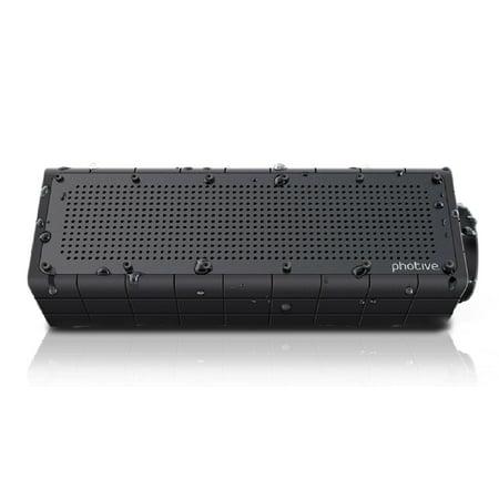Certified Refurbished Photive HYDRA Waterproof Wireless Bluetooth Speaker. Mud-proof. Snow-proof. Shock-proof. Weather-proof Wire-free Portable Speaker (Certified Refurbished) (Waterproof Speakers Wireless)