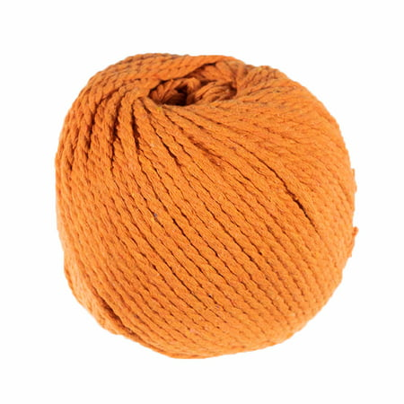 Craft County Cotton Rope - 3mm Diameter 50 Meter Skein in Vibrant Colors - Natural Cotton Cord for DIY Crafting, Macrame, and More