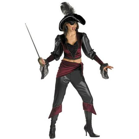 Buccaneer Beauty Adult Halloween Costume, One - Buccaneer Beauty