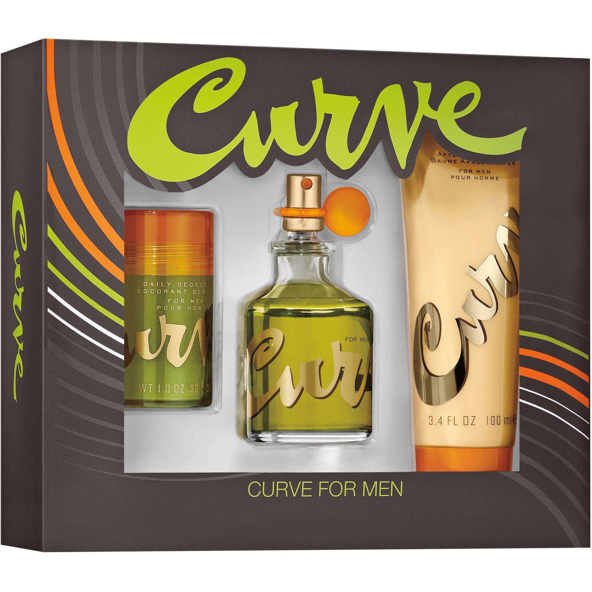 Curve Cologne for Men, 3 pc