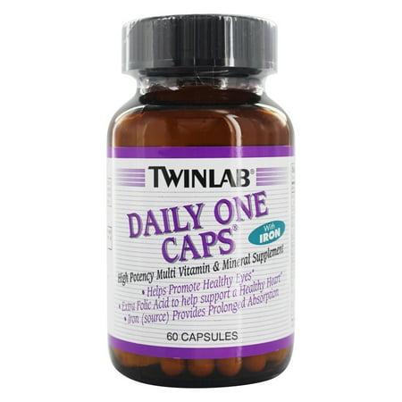 Twinlab - One Daily Caps multivitamines et minéraux avec fer - 60 capsules