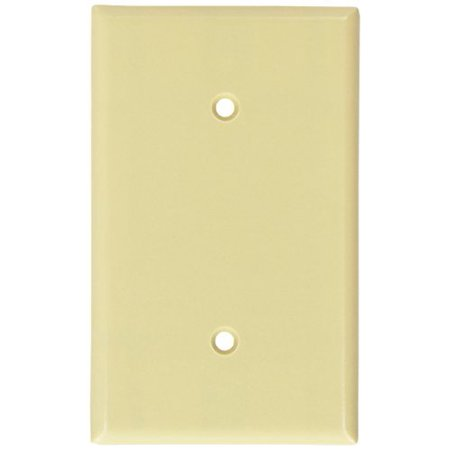 Leviton 86019 Ivory Single Gang Blank Strap Mount Wall Plate