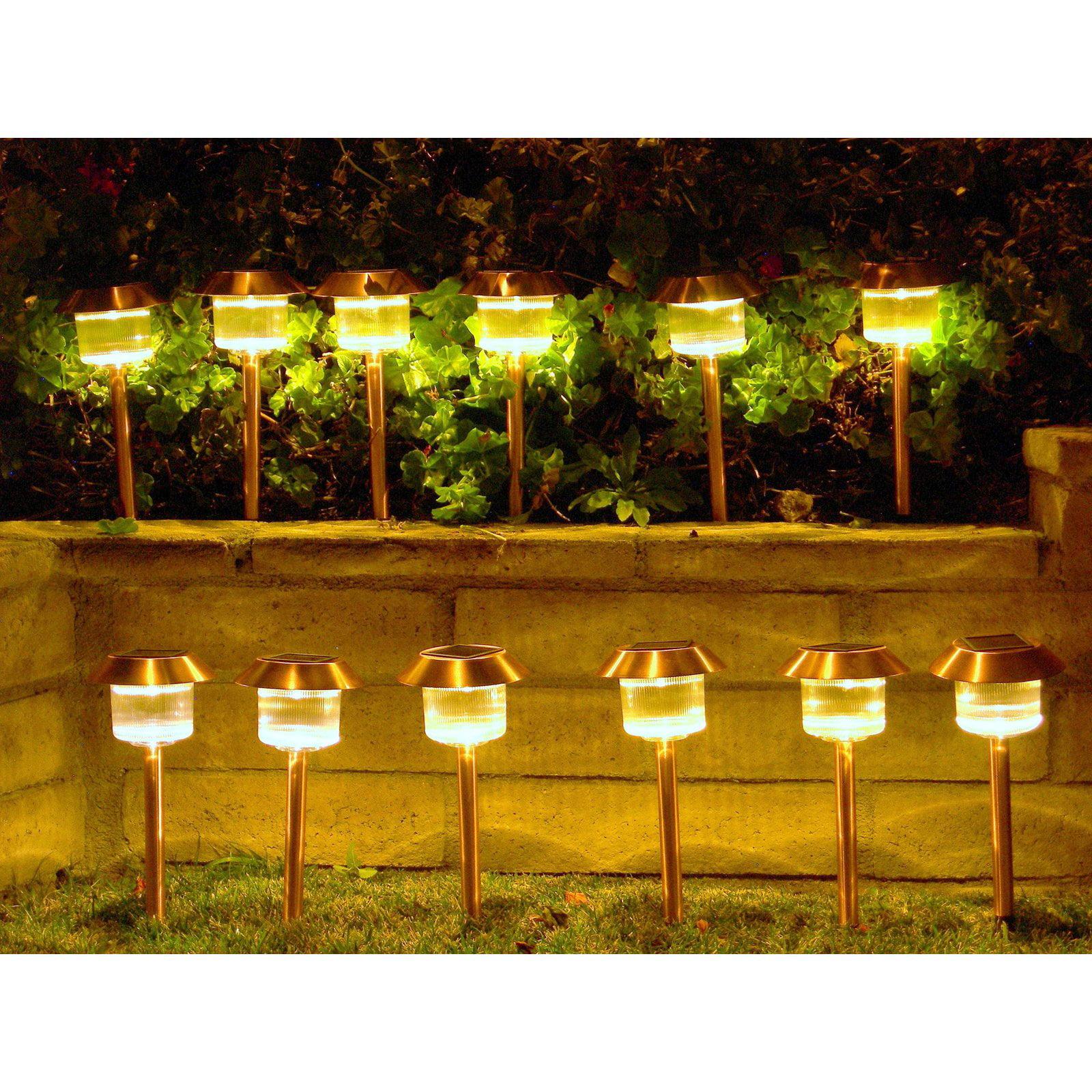 Outdoor Pathway Lighting Sets Homebrite solar power belmont path lights set of 12 walmart workwithnaturefo