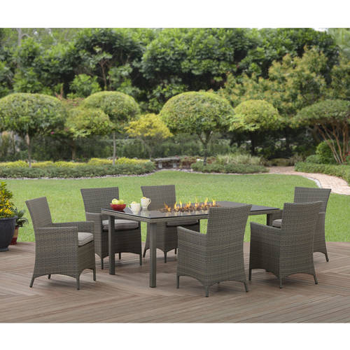 Better Homes and Gardens Anchorage Valley Contemporary Wicker 7pc Dining Set