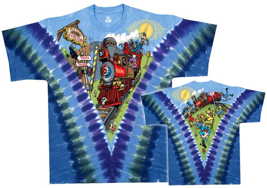 Grateful Dead Casey Jones Tie Dye T-Shirt by Liquid Blue