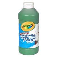 Crayola Washable Paint, Green, 16 Oz, Set Of 6 Bottles