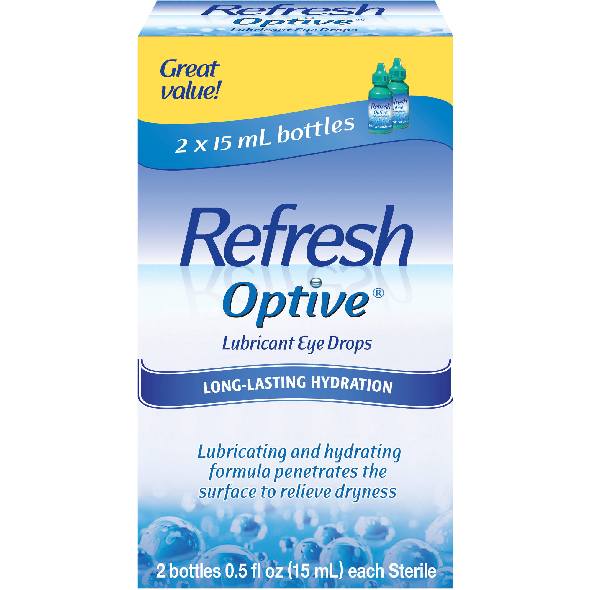 Refresh Optive® Lubricant Eye Drops 2-0.5 fl. oz. Bottles