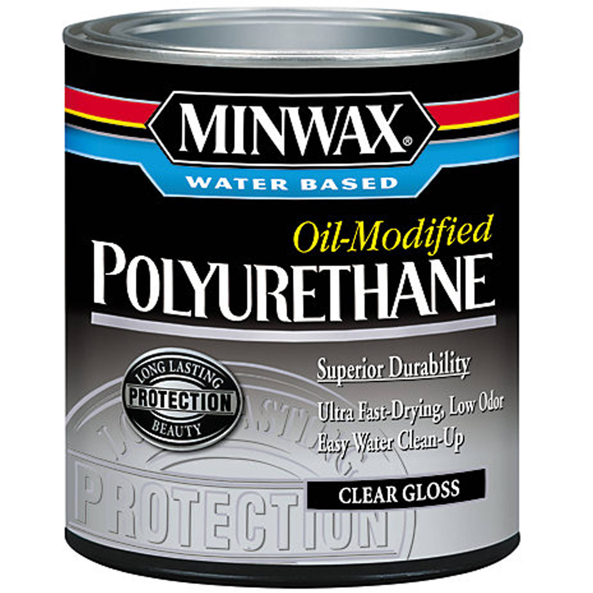 Minwax Water-Based, Oil-Modified Polyurethane Finish, 1 Qt, Gloss